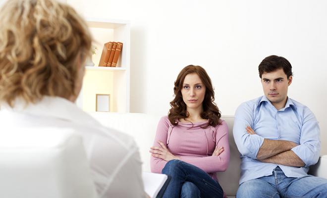 муж и жена у психолога