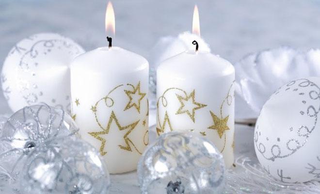новогодние самодельные свечи