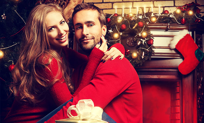 пара в новогоднюю ночь