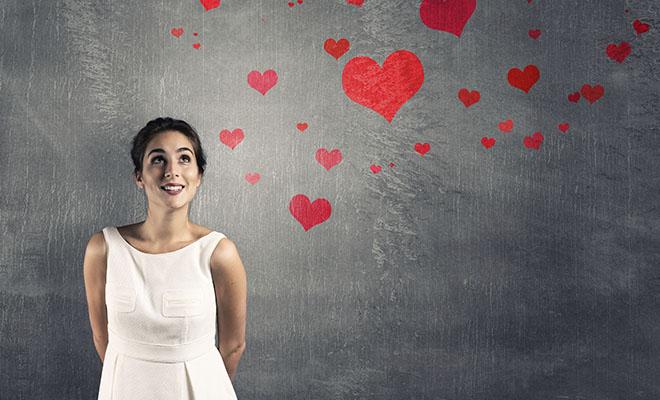 влюбленная женщина