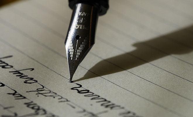 рукописное письмо
