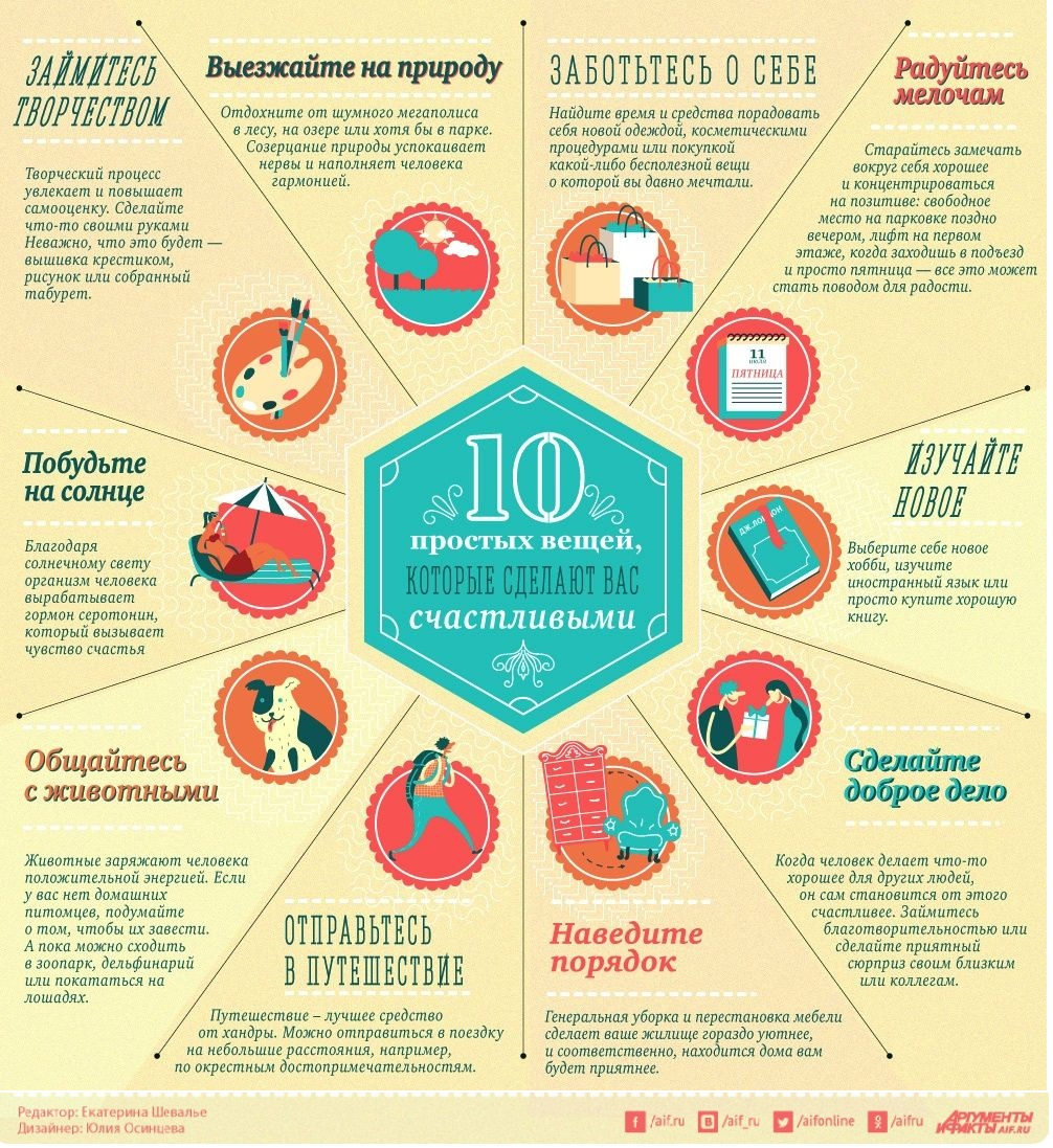 10 вещей для счастья